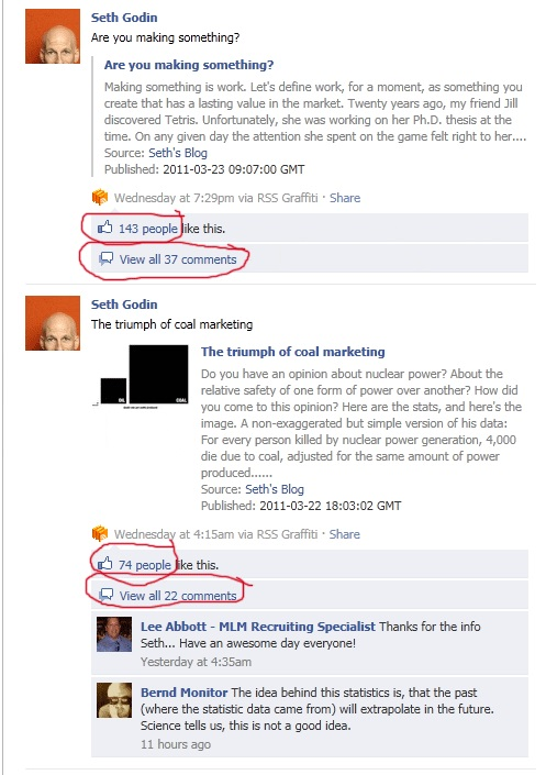 Seth Godin Facebook Comments