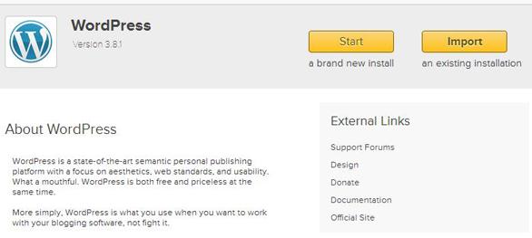 WordPress Installation iPage Hosting